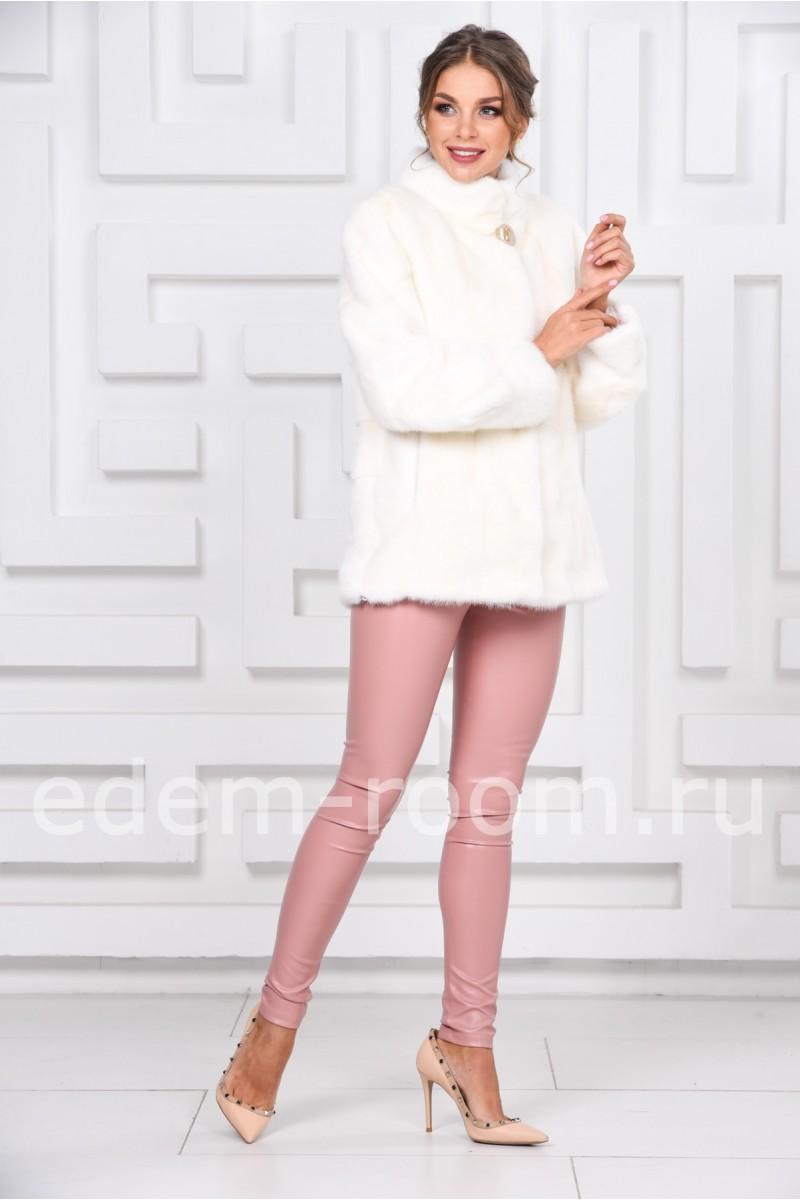 Белая норковая шуба - 2017
