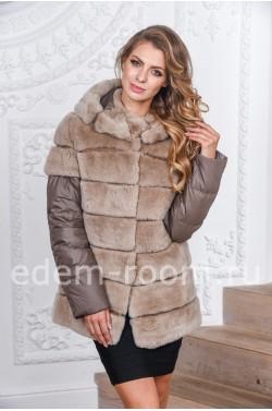 Зимняя куртка- жилетка из кролика рекс