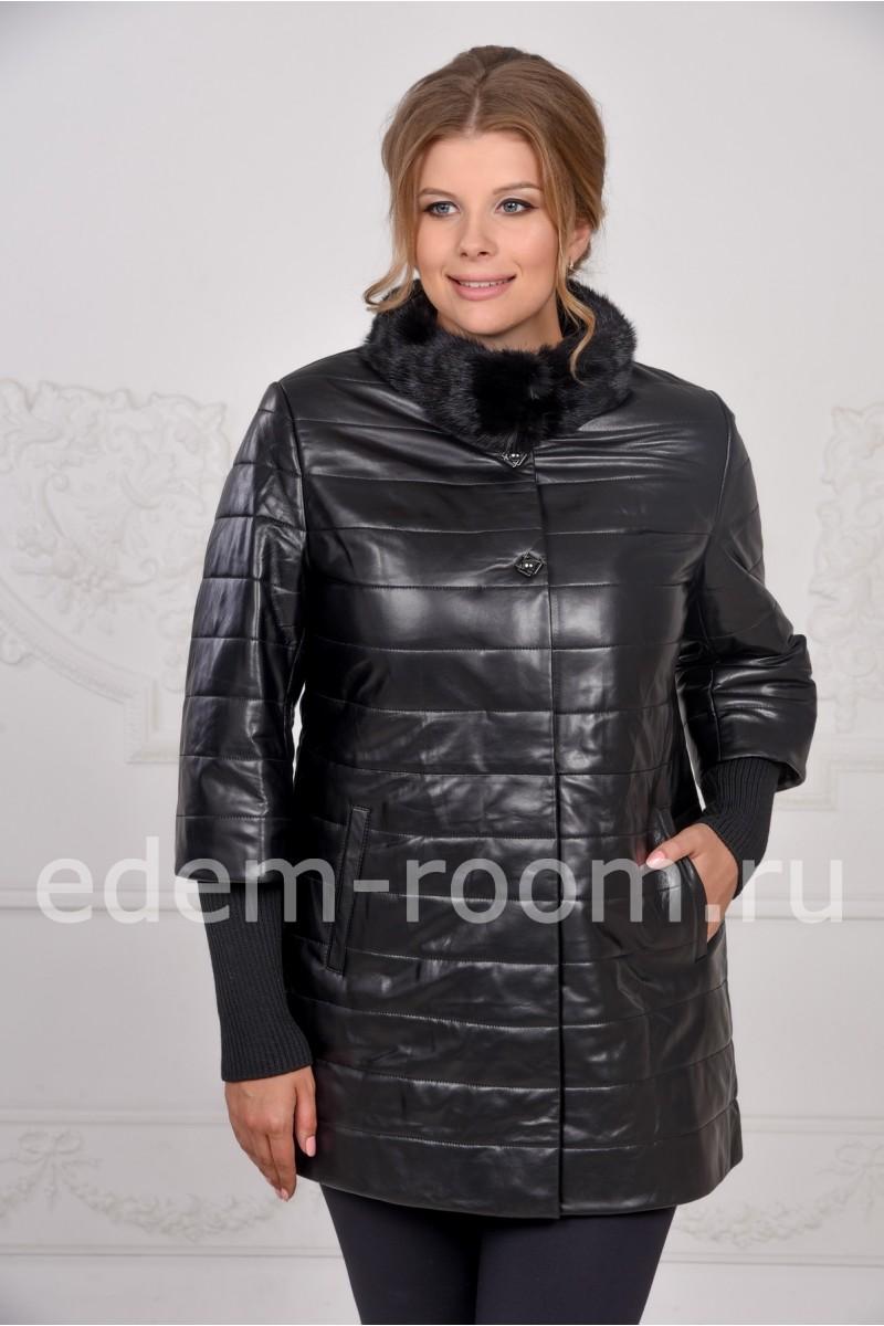 Демисезонная кожаная куртка