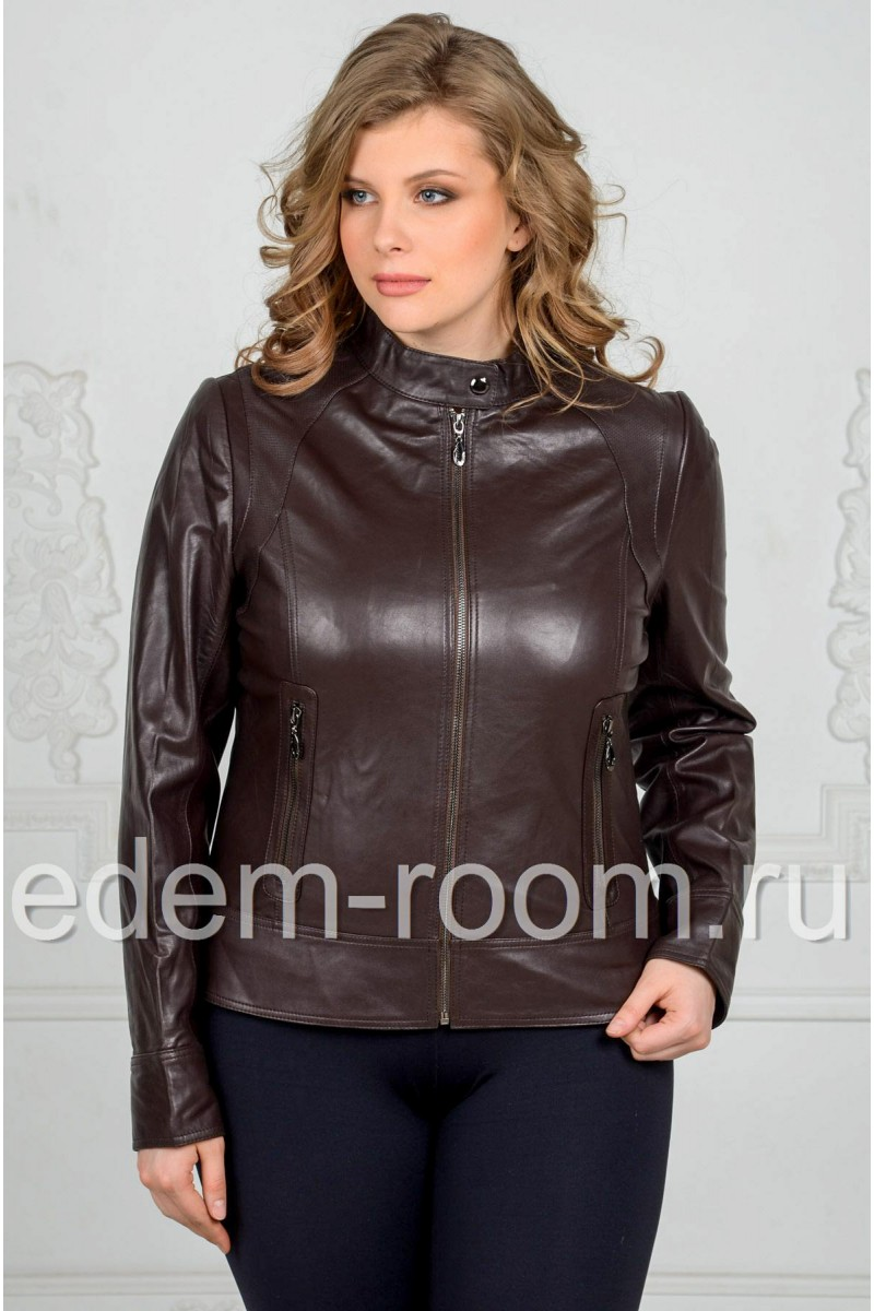 Кожаная куртка для женщин
