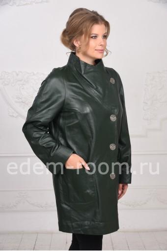 Турецкий кожаный плащ для женщин
