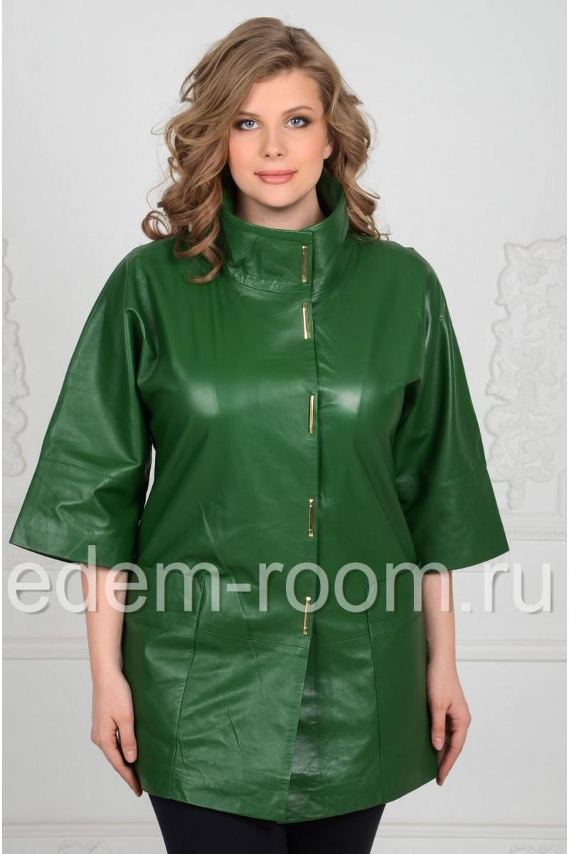 Удлинённая кожаная куртка для женщин
