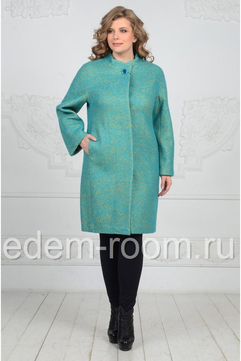 Шерстяное пальто на большие размеры