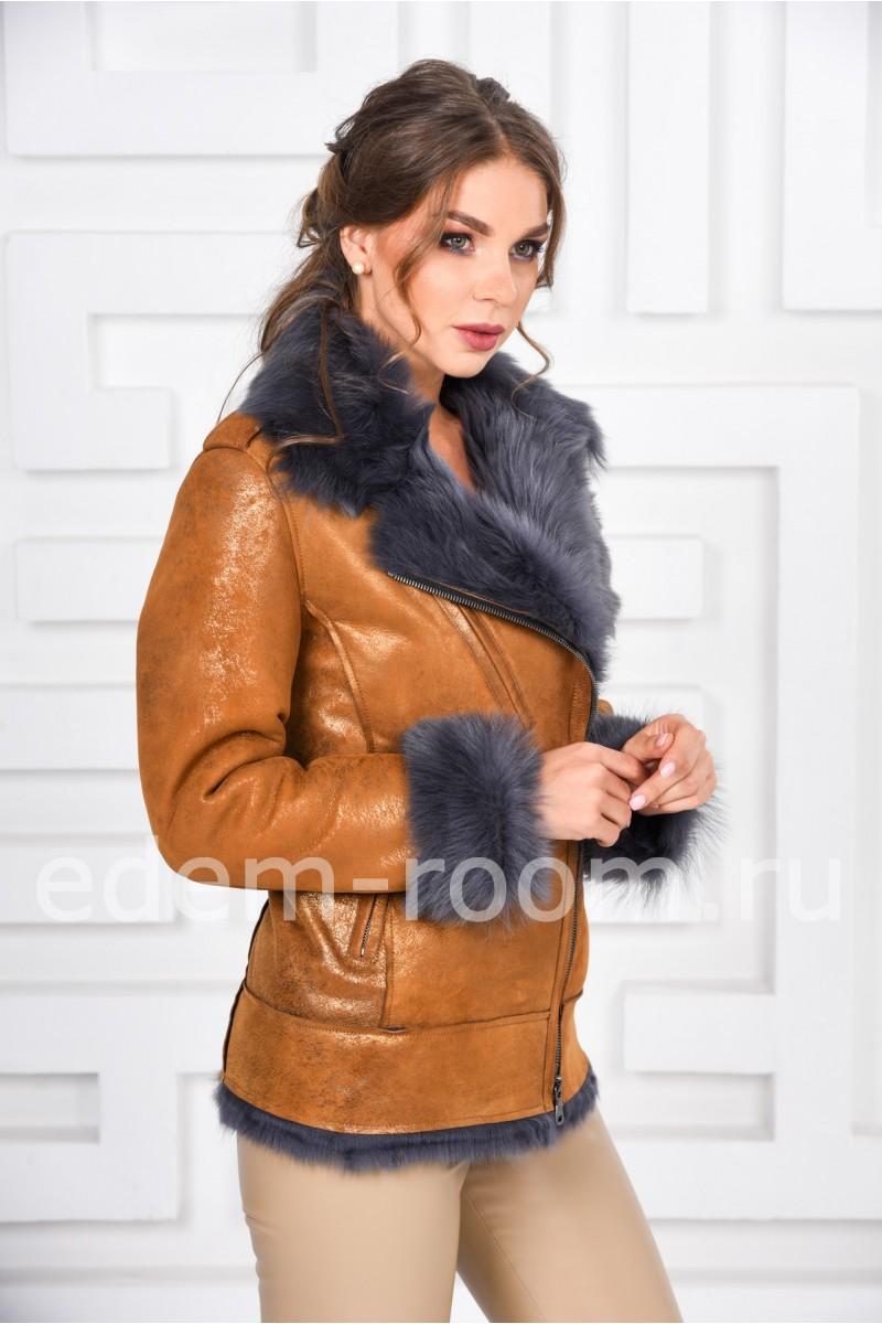 Современная куртка - дублёнка