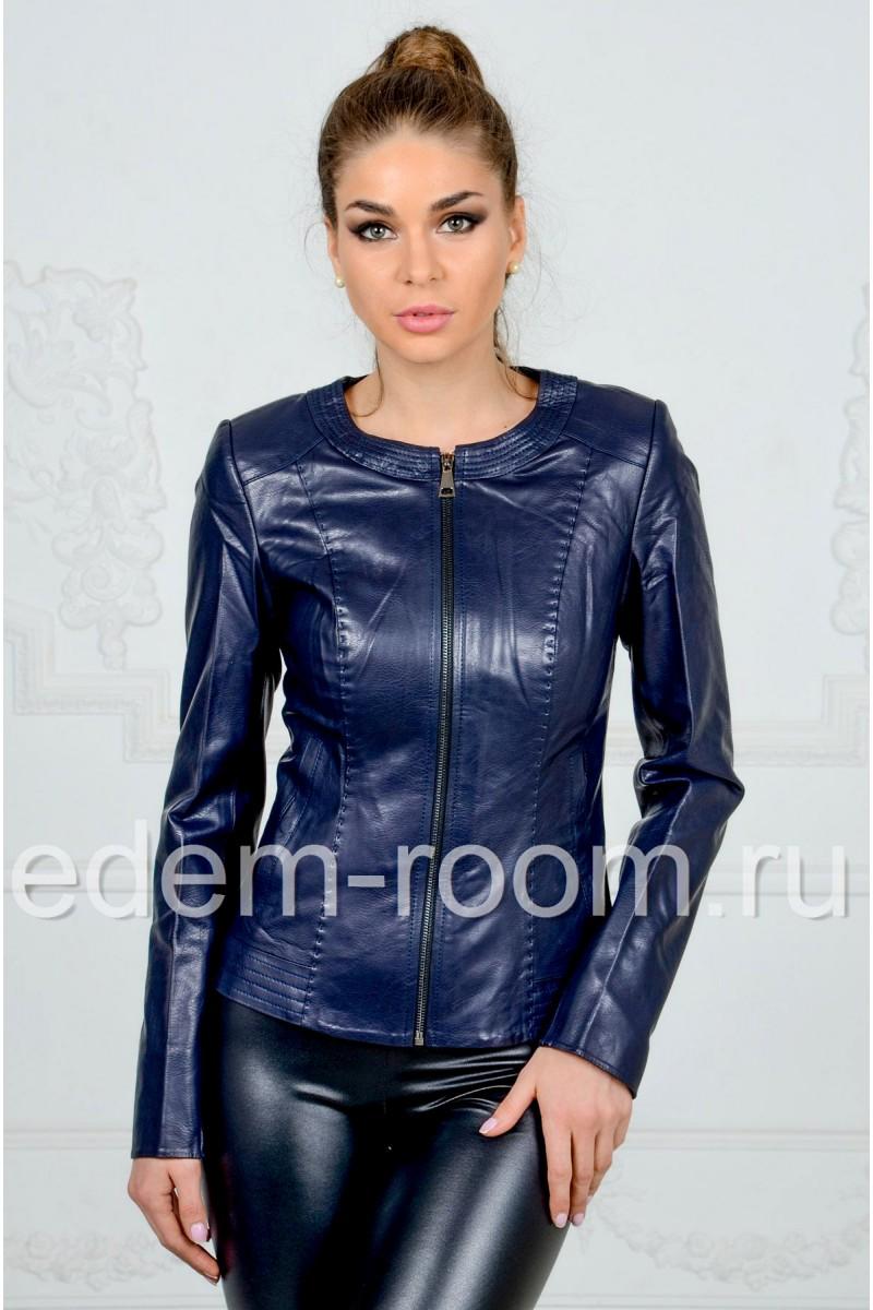 Женская куртка иэ искусственной кожи