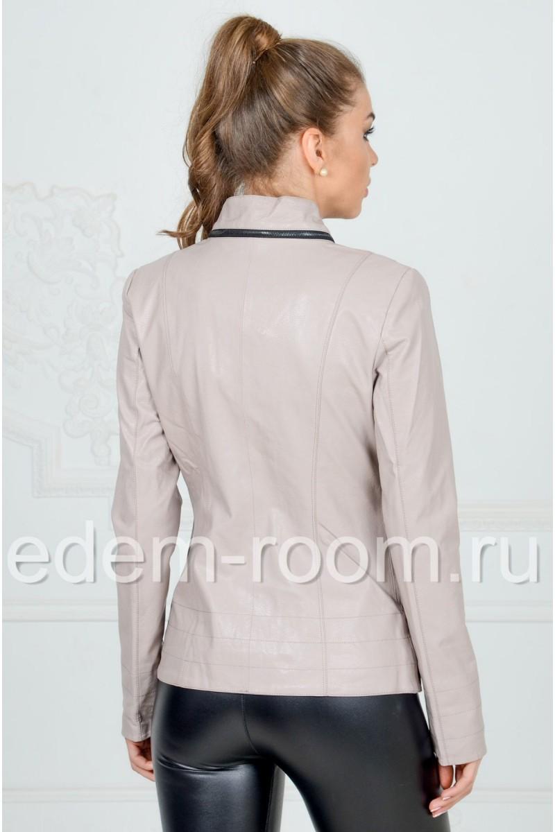 Куртка из эко-кожи на молнии
