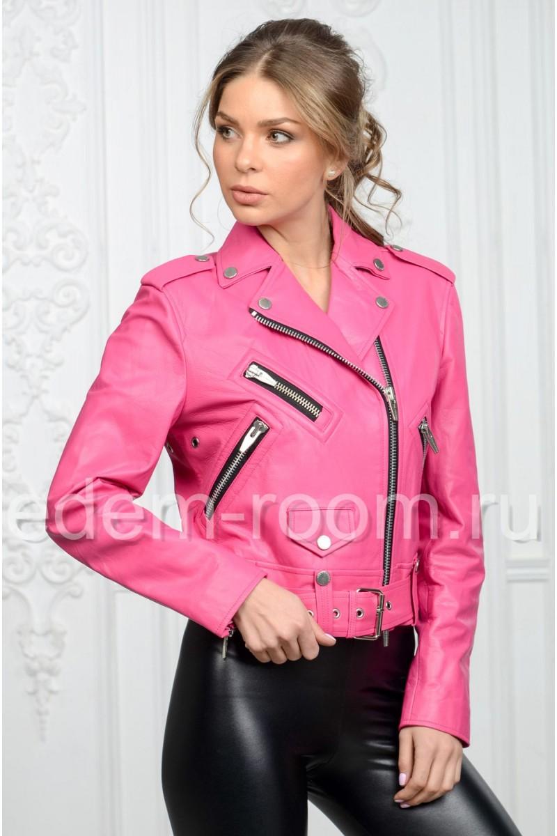 Клубная кожаная куртка