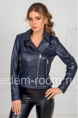 Весенняя женская кожаная куртка из турецкой кожи