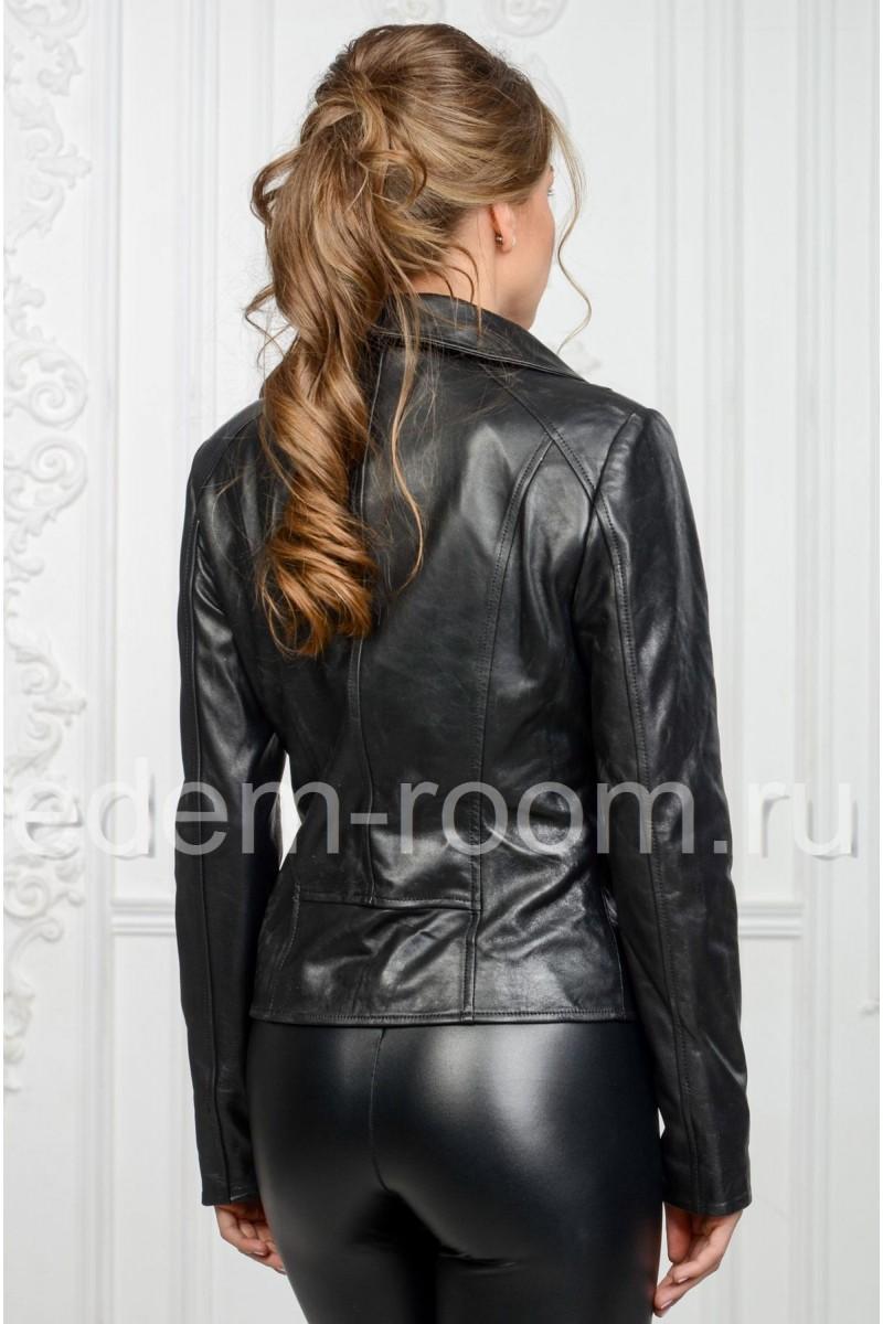 Приталенная кожаная куртка