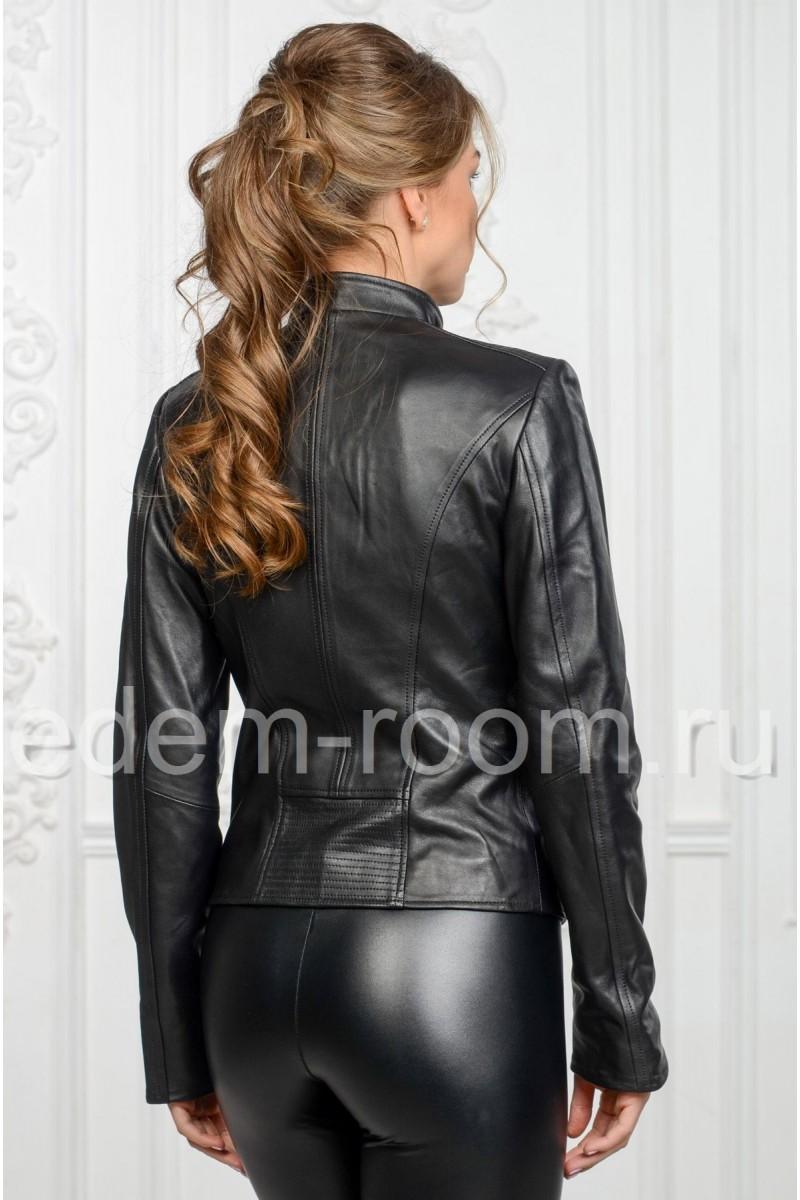 Куртка из кожи на молнии
