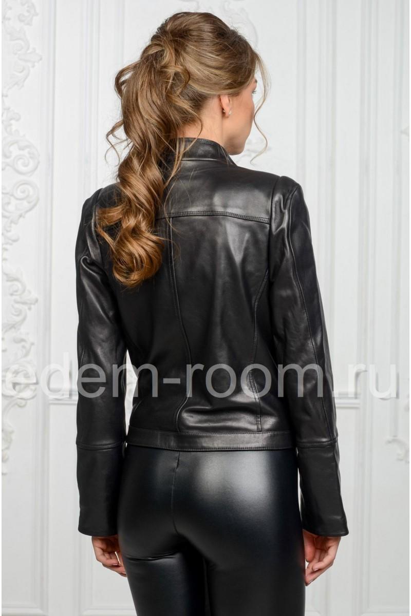 Женская косуха из натуральной кожи