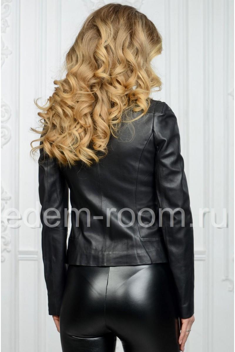 Классическая кожаная куртка, весенняя для женщин