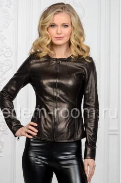 Женская куртка из натуральной кожи для весны