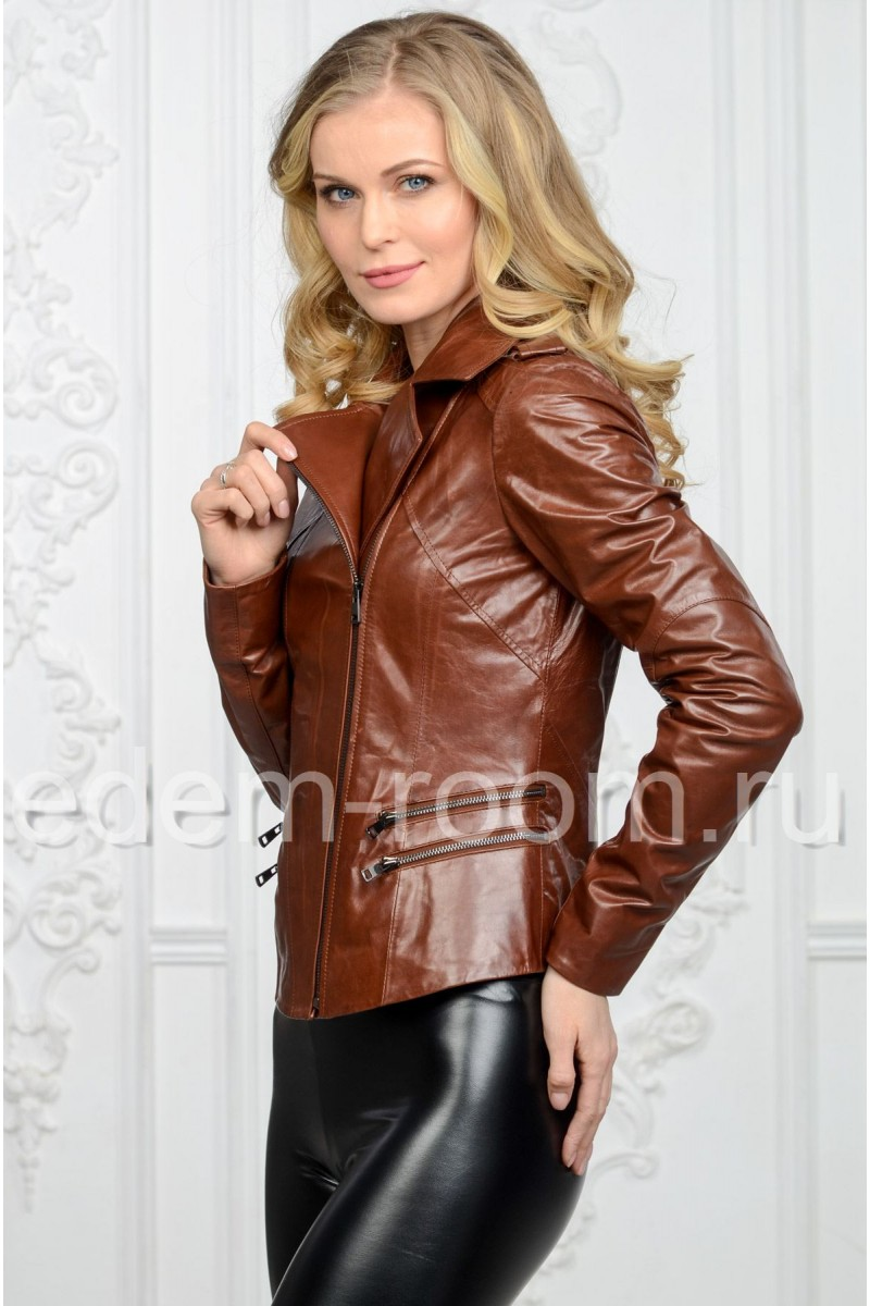 Женская коричневая косуха