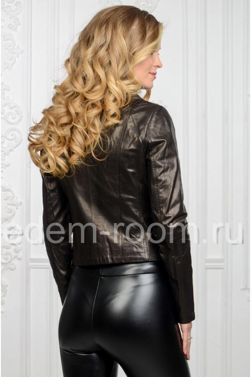 Женская чёрная косуха