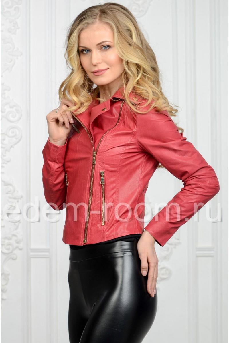 Кожаная куртка для весны и лето