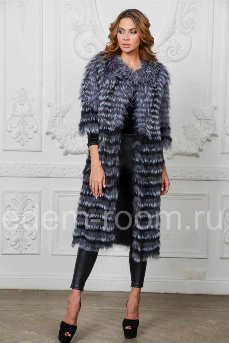 Меховое пальто - в росшив