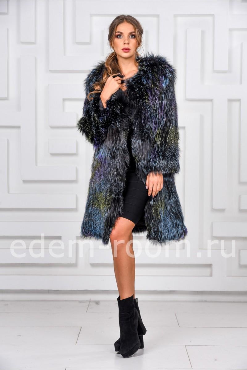 Меховое пальто из лисы