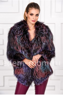 Куртка из вязаной лисы