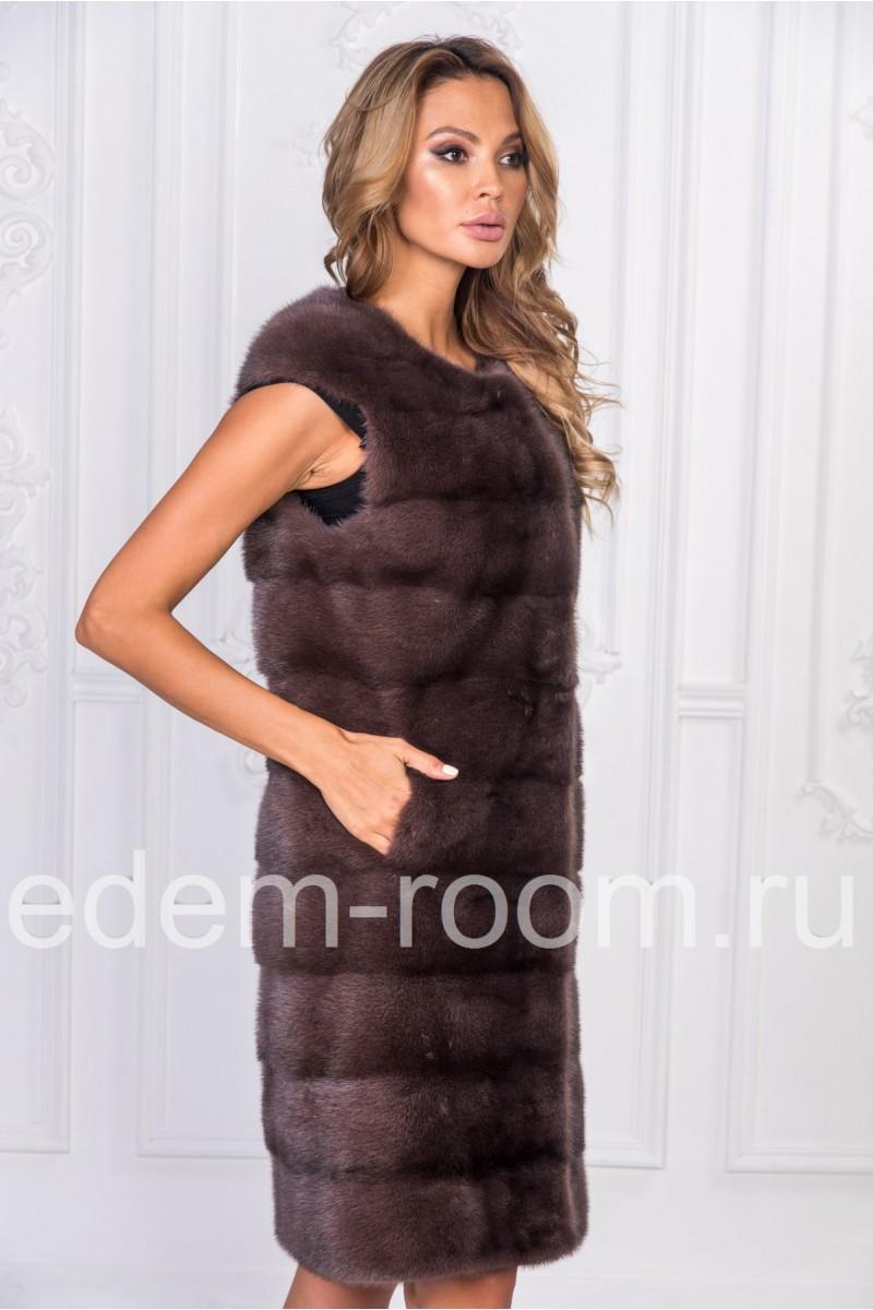 Женская норковая жилетка