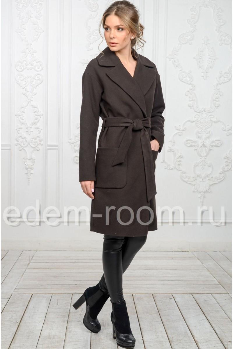 Классическое пальто под пояс