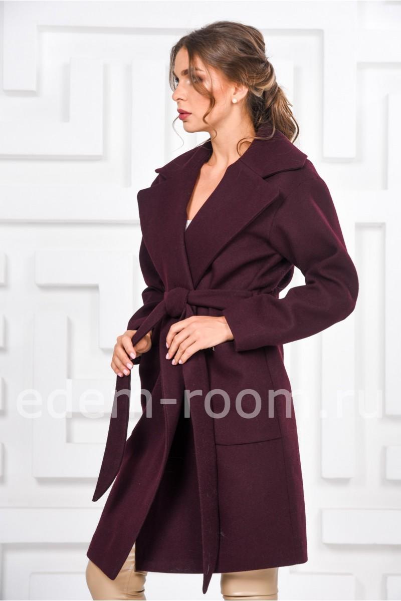 Осеннее пальто с поясом