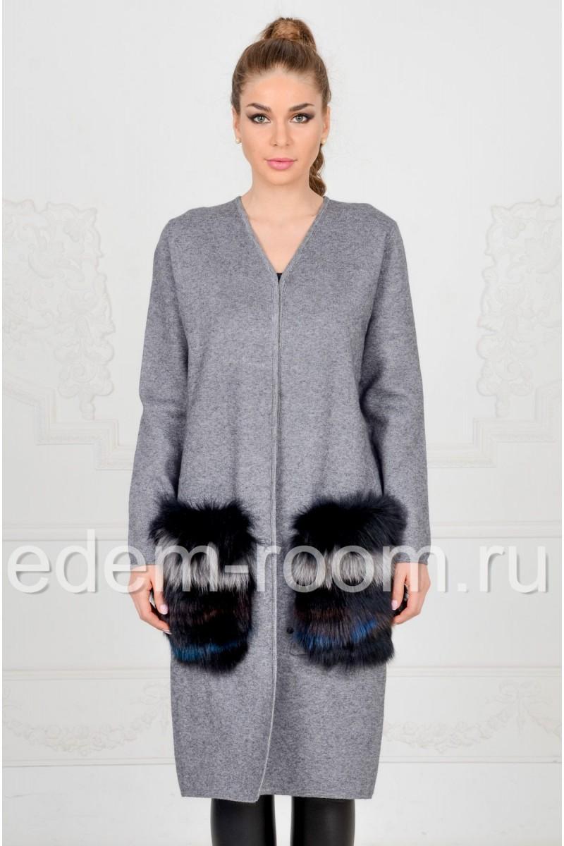 Кардиган - пальто из трикотожа