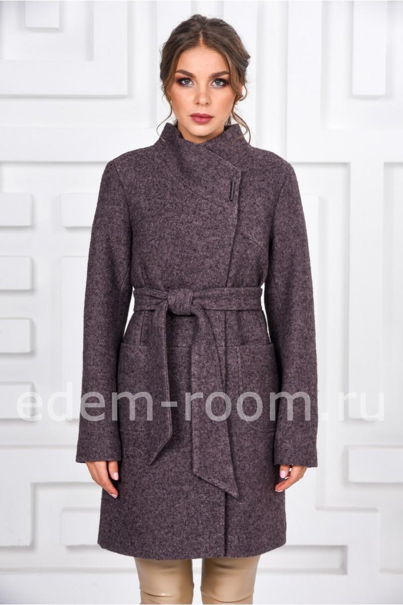 Молодёжное пальто с поясом