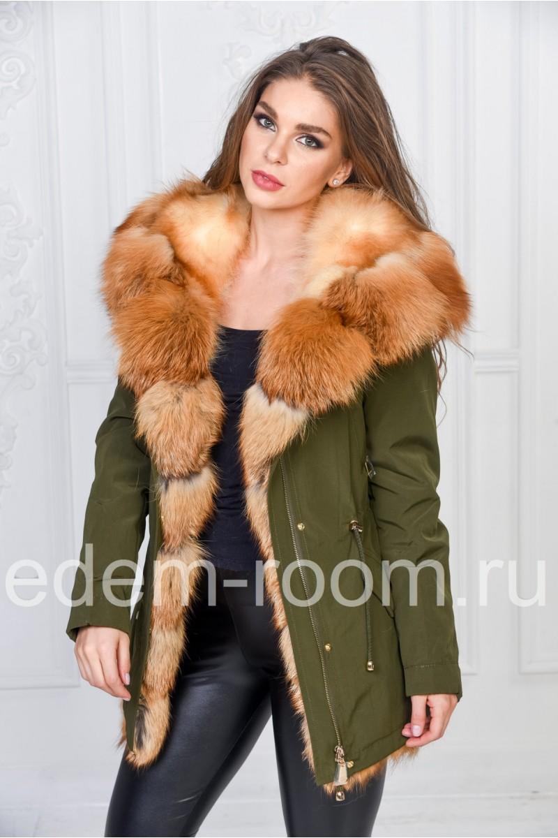 Меховая куртка - парка из лисы