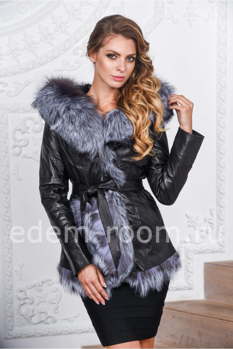 Женская кожаная куртка для зимы