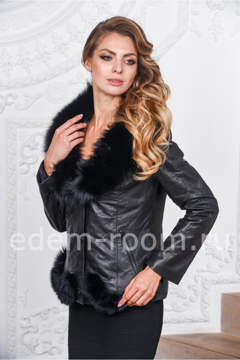 Кожаная куртка - дублёнка