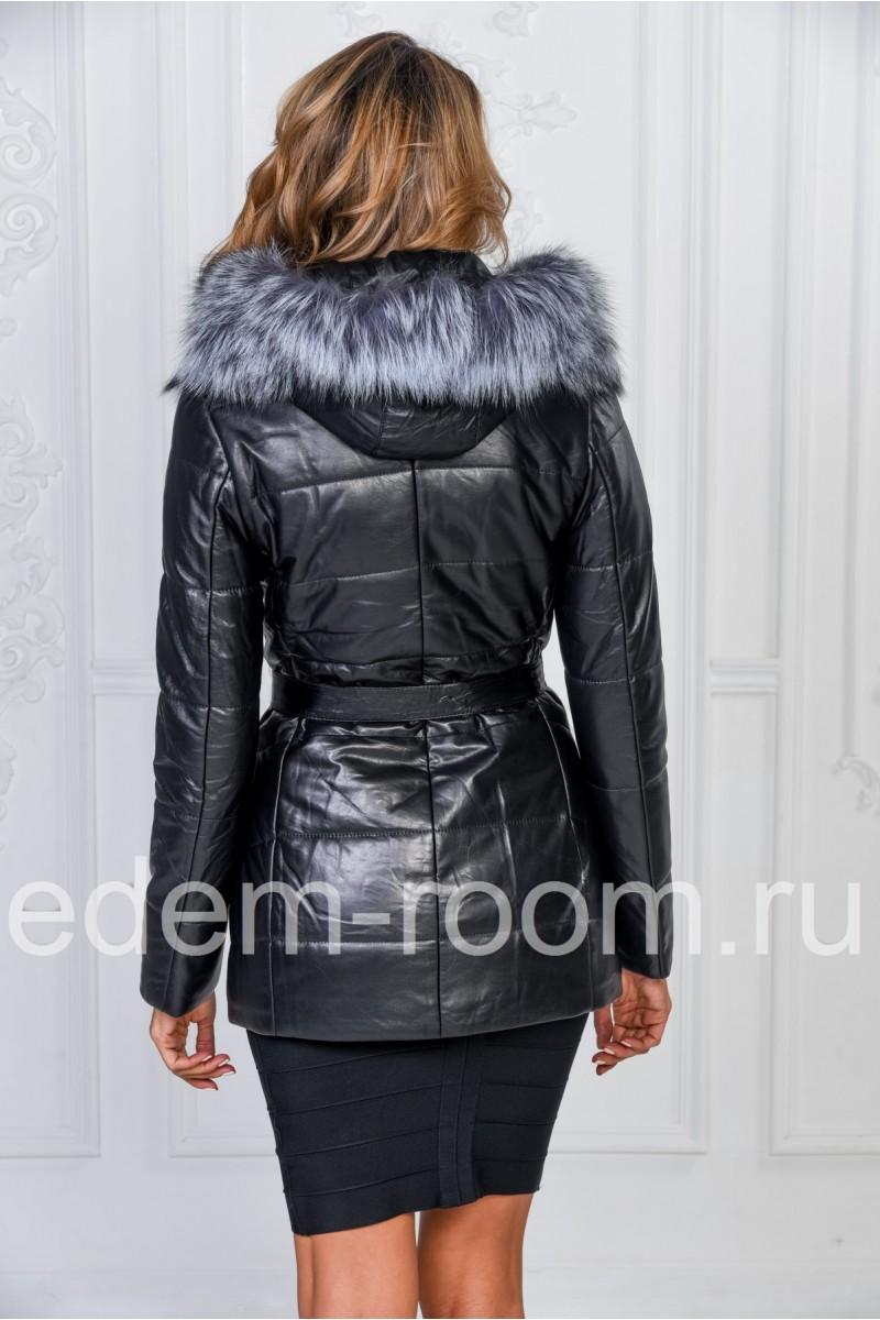 Зимняя куртка из натуральной кожи