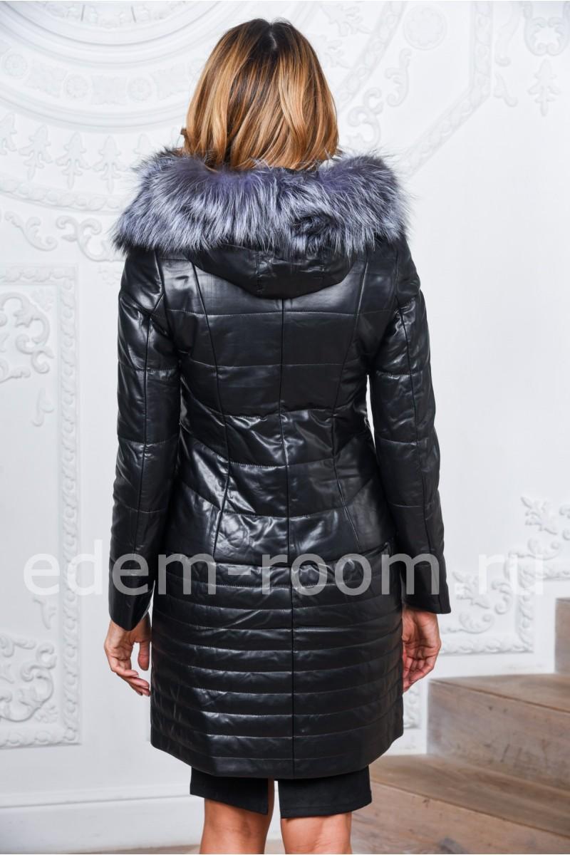 Зимнее пальто из кожи