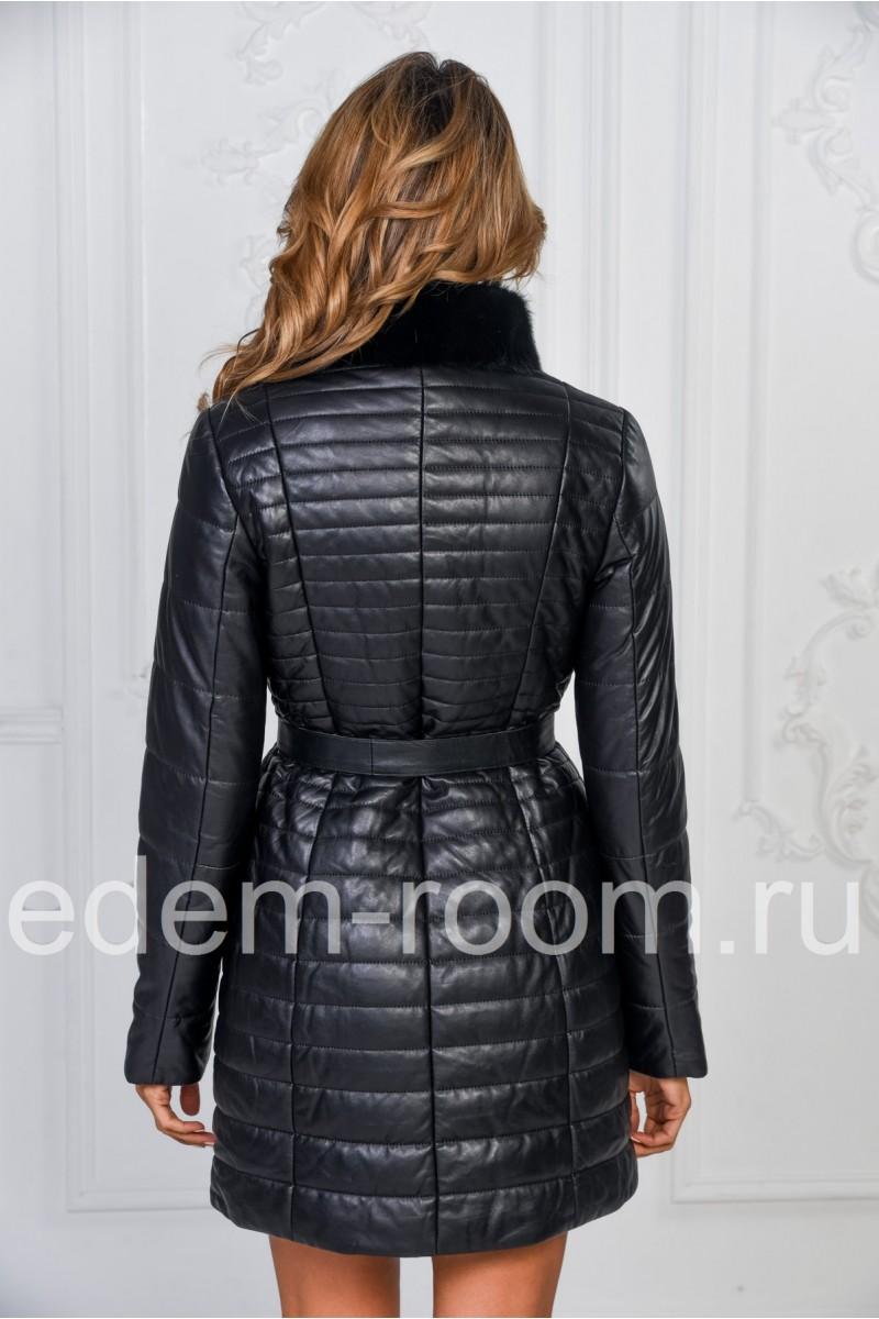 Зимнее кожаное пальто - Зима 2018