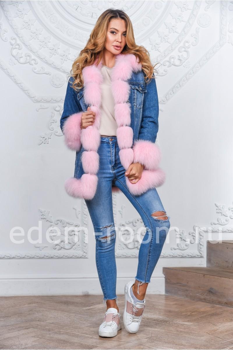 Джинсовая куртка с мехом: осень - весна