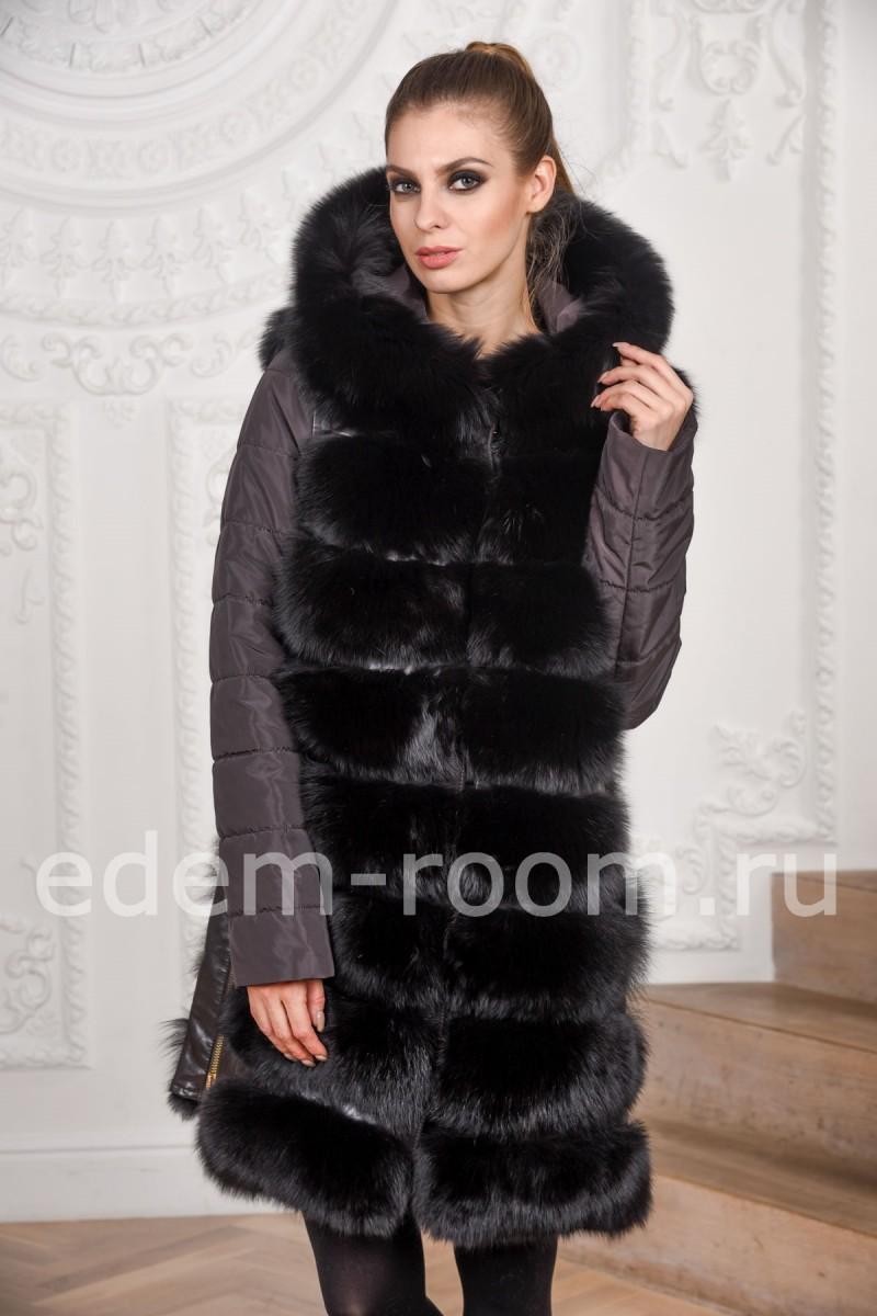 Меховая куртка - пальто из песца