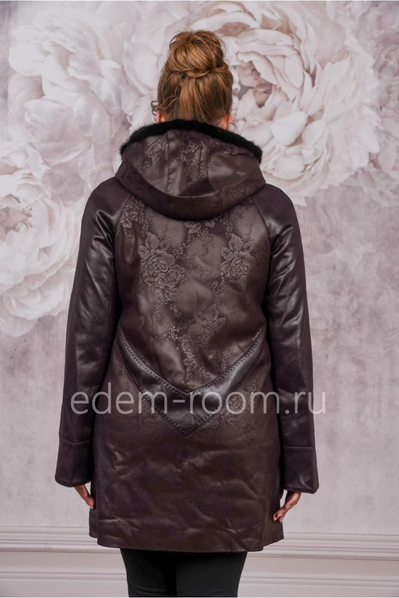 Куртка из экозамши для больших размеров