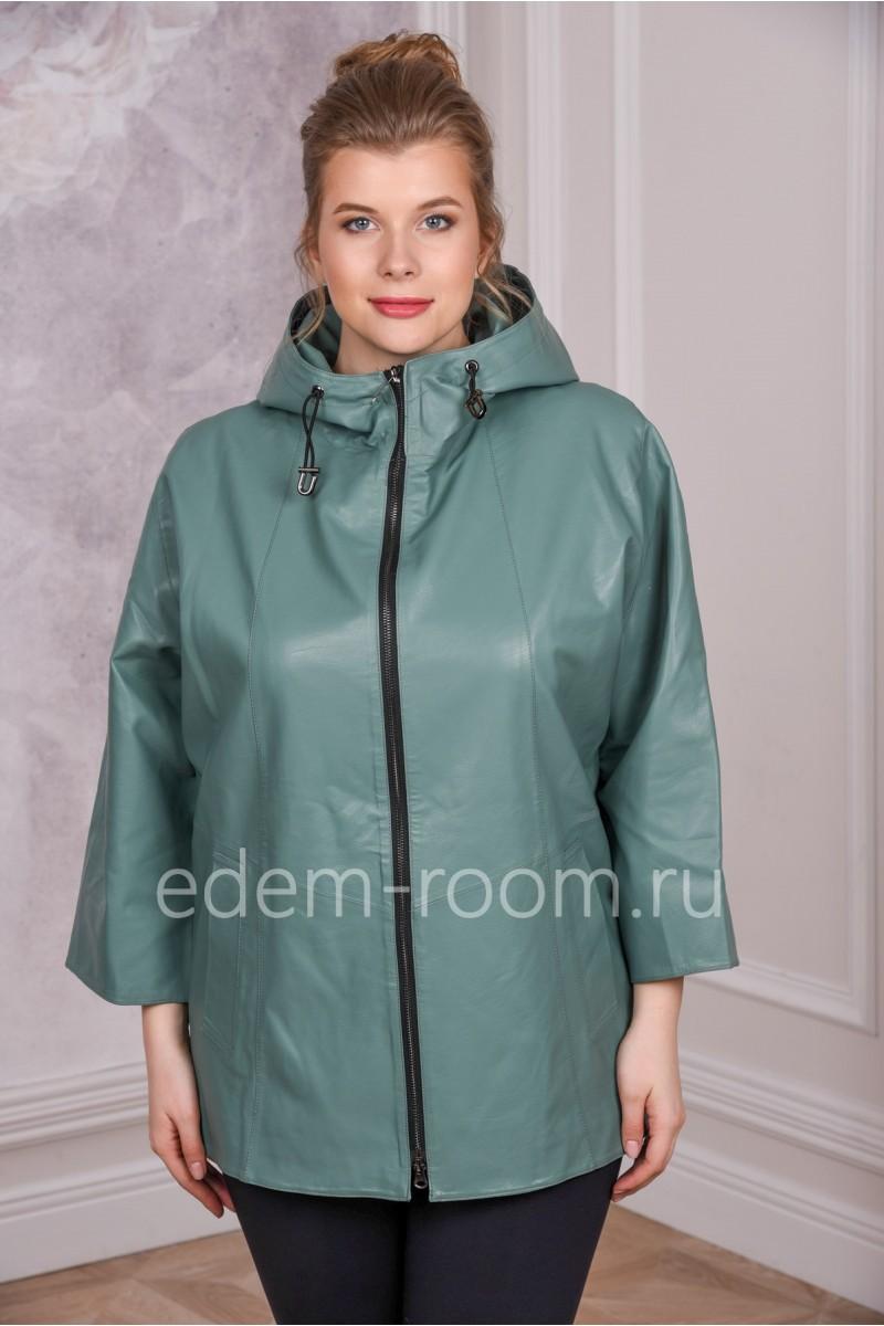 Красивая куртка из экокожи на большие размеры