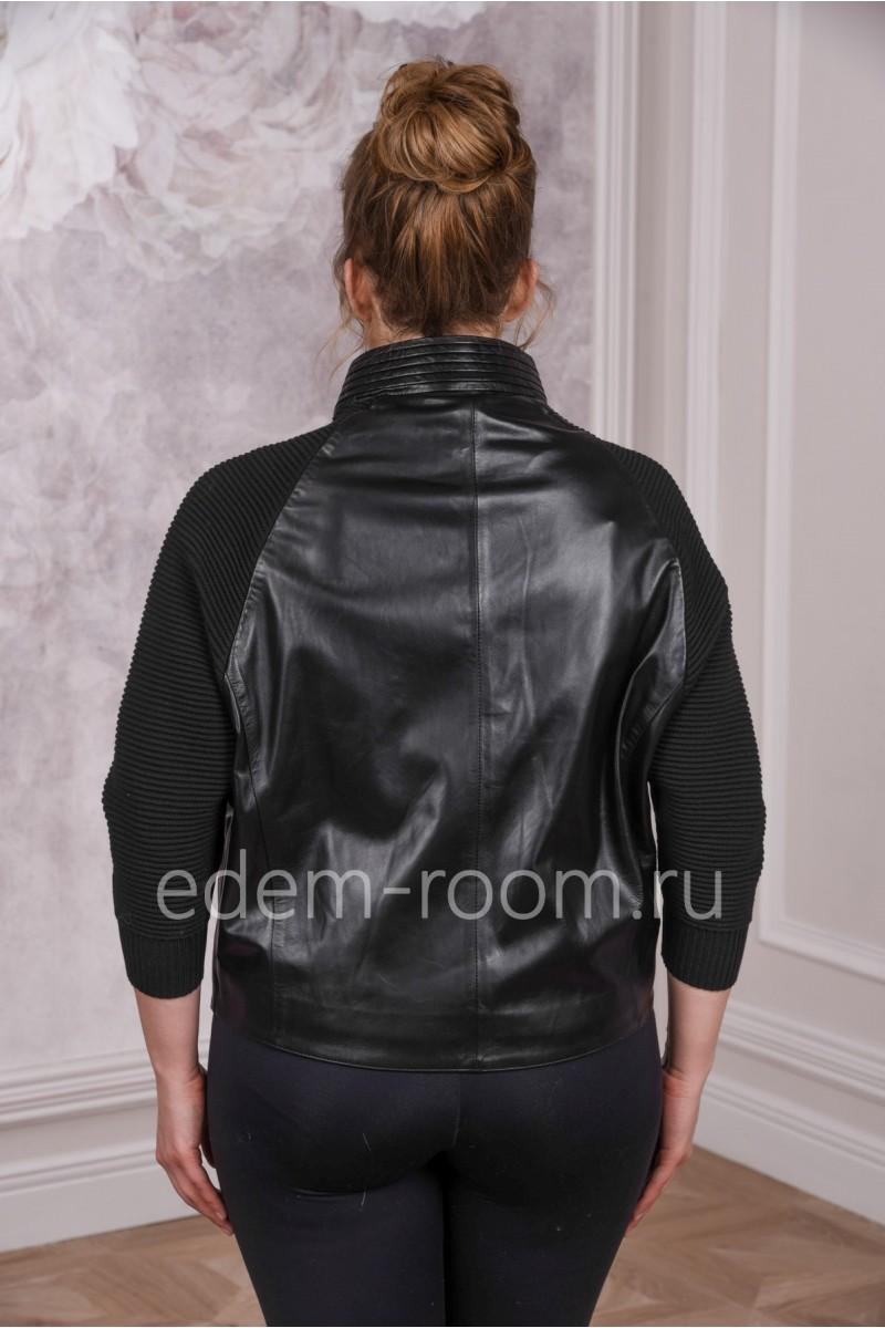 Красивая кожаная куртка для больших размеров