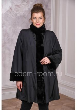 Модное женское пальто на кролике