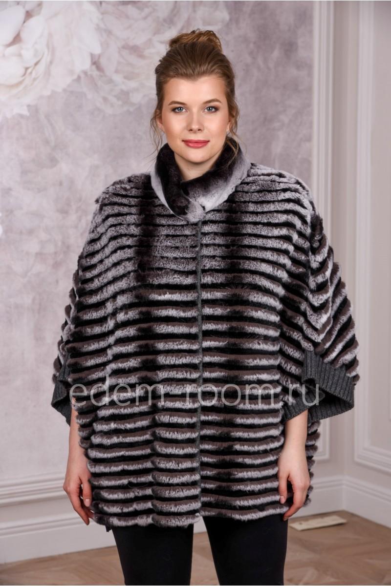Меховое пальто из кролика рекс