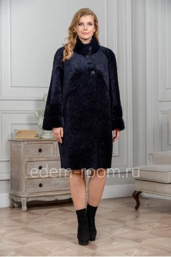 Модная мутоновая шуба - без капюшона