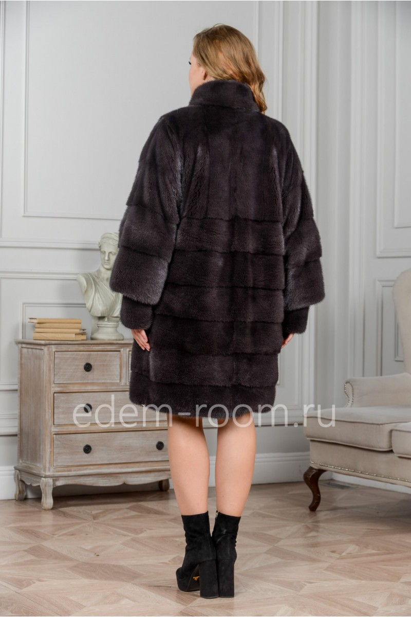 Модная норковая шуба для женщин