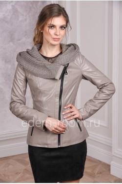 Демисезонная куртка из эко-кожи