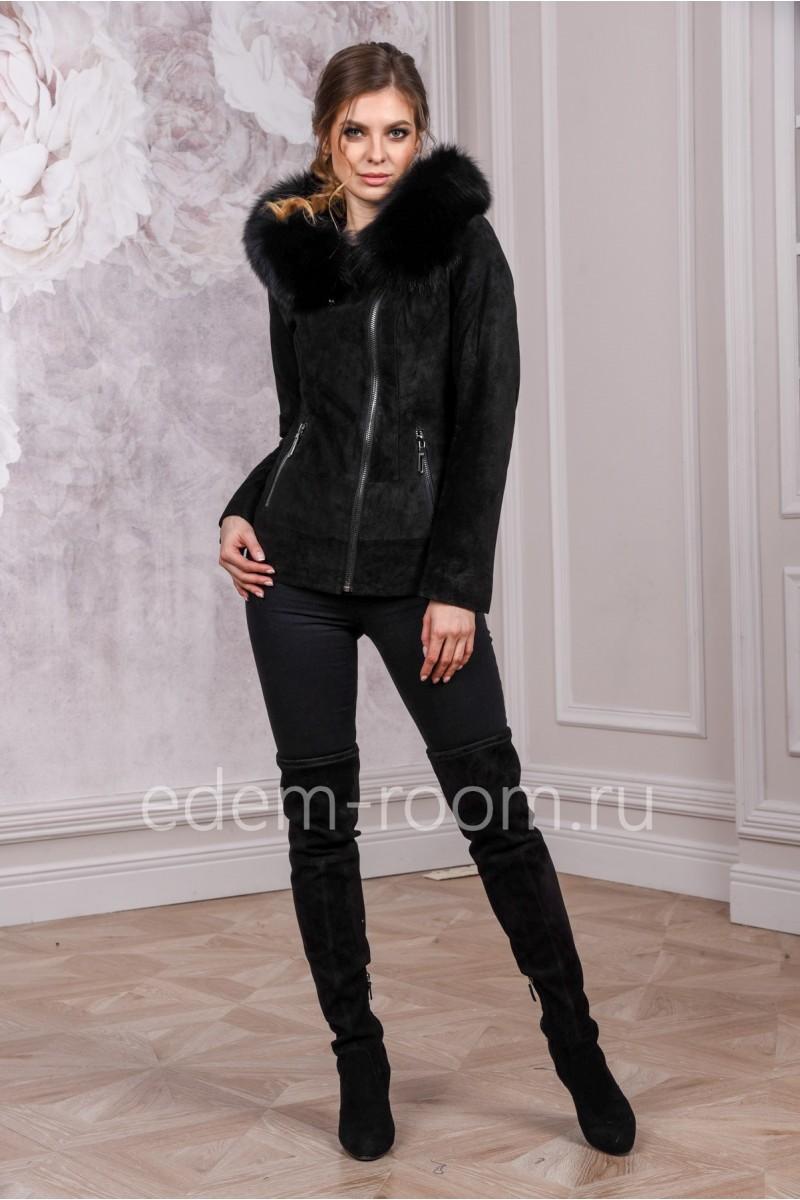 Демисезонная замшевая куртка