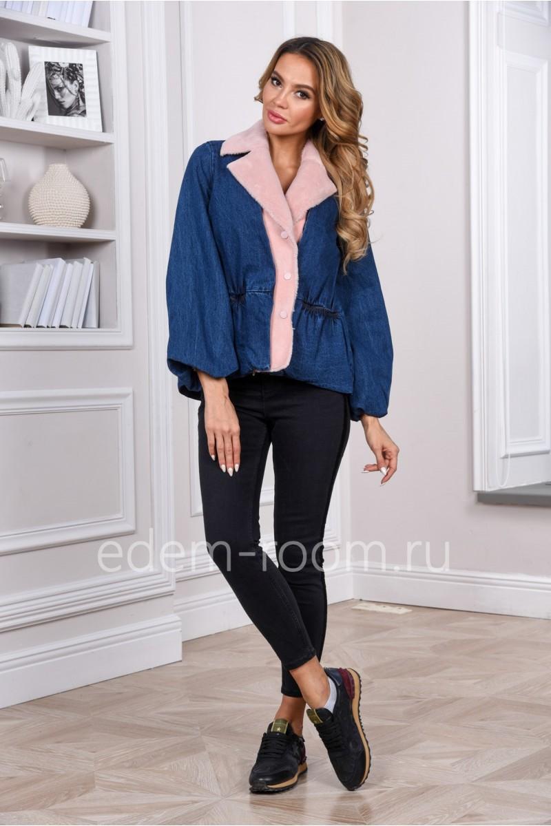Осенне - весенняя джинсовая куртка