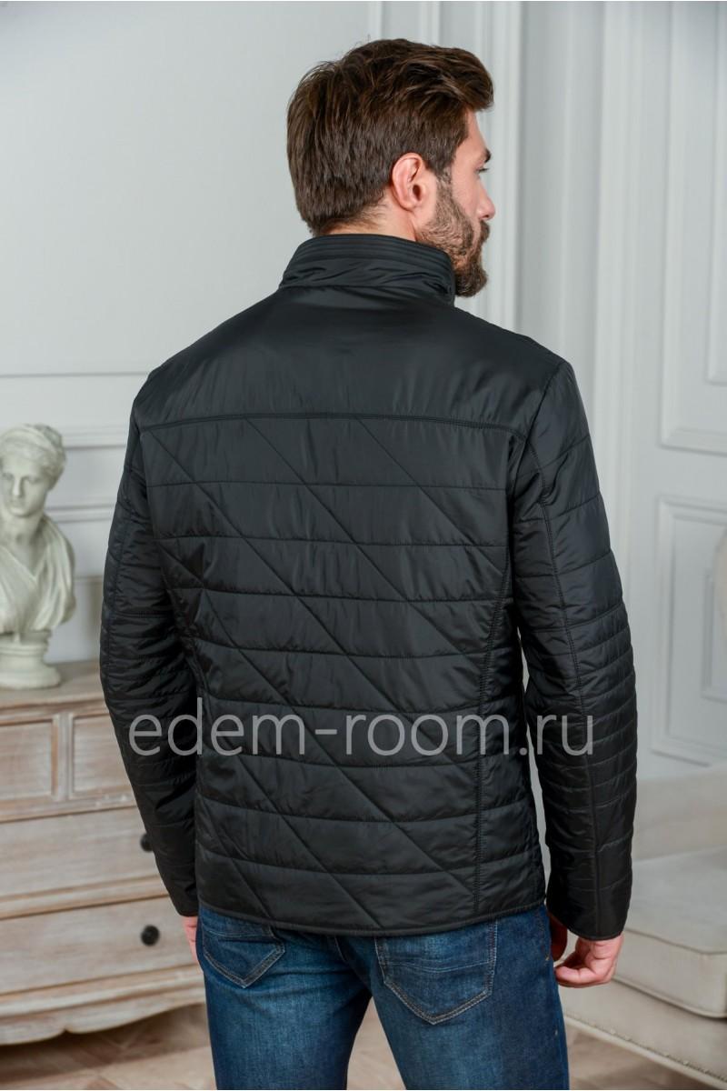 Чёрная тканевая куртка