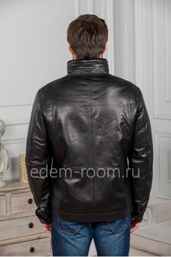 Дубленка мужская черного цвета
