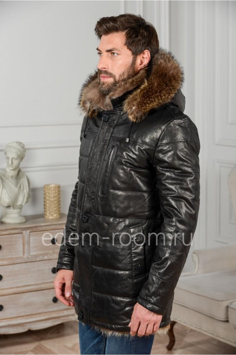 Кожаная куртка - дубленка на тоскане