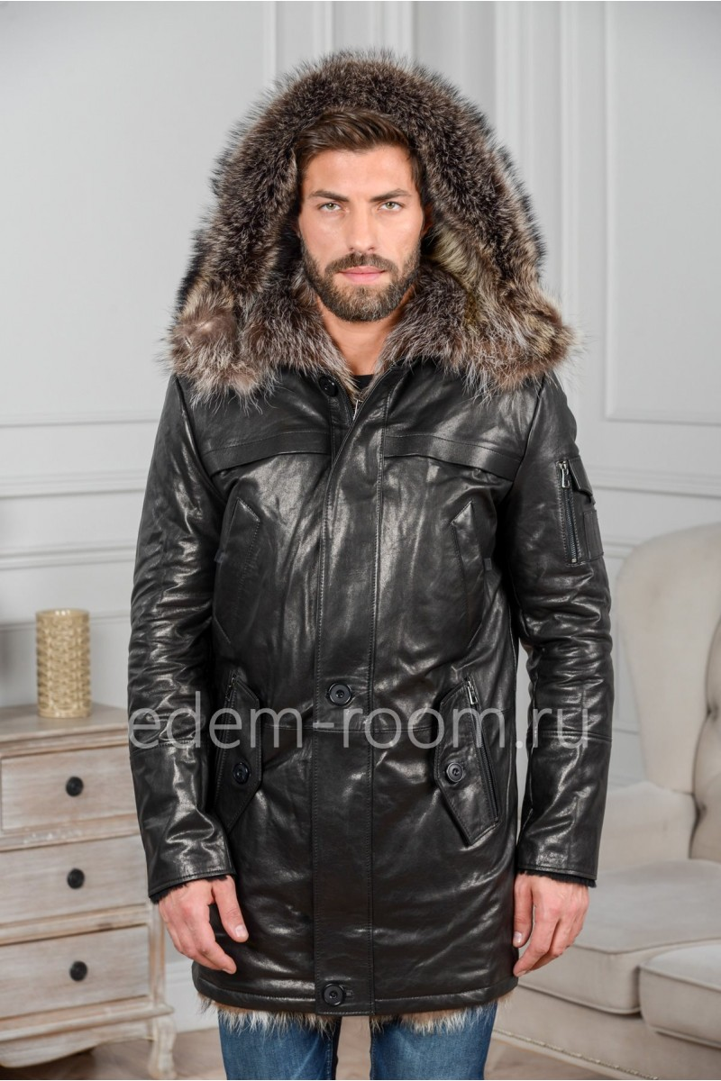 Мужская куртка на меху из тосканы